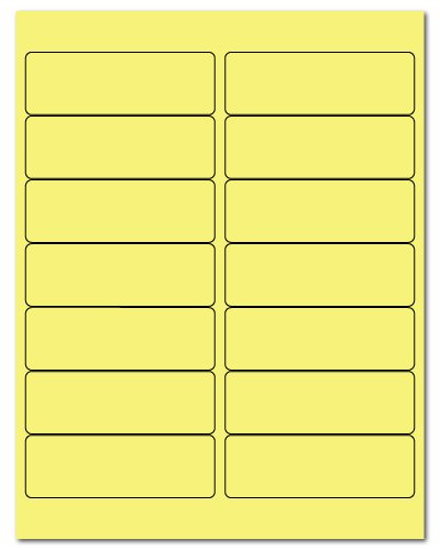 4 x 1.33 Pastel Yellow, 14 up, 500 Sheets