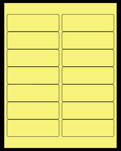 "4"" X 1.33"" Pastel Yellow Sheets"