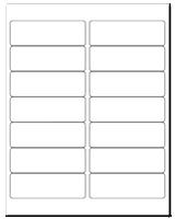 """4"""" X 1.33"""" White Matte Sheets"""