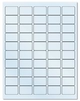 "1.5"" X 1"" Frosty (Matte) Clear Sheets"
