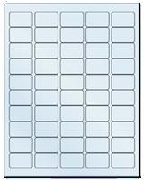 "1.5"" X 1"" Frosty (Matte) Clear Sheets"