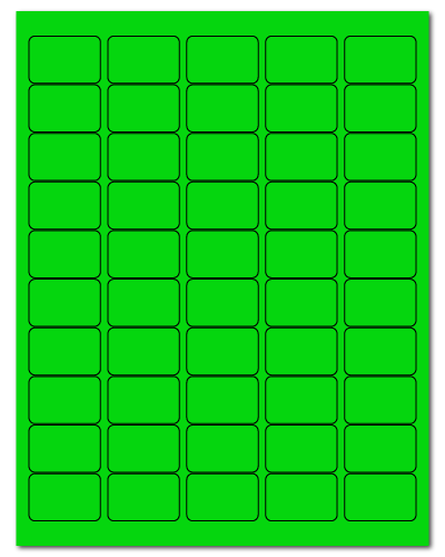 "1.5"" X 1"" Fluorescent Green Sheets"