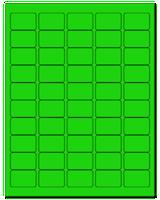 """1.5"""" X 1"""" Fluorescent Green Sheets"""