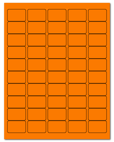 "1.5"" X 1"" Fluorescent Orange Sheets"