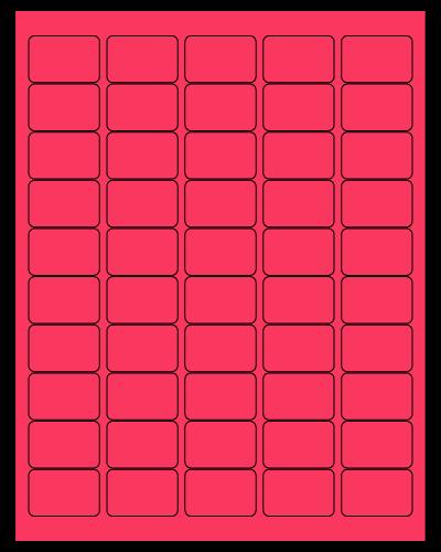"1.5"" X 1"" Fluorescent Pink Sheets"