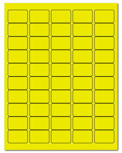 "1.5"" X 1"" Fluorescent Yellow Sheets"