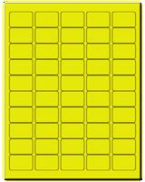 "1.5"" X 1"" Fluorescent Yellow Sheets"