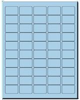 "1.5"" X 1"" Pastel Blue Sheets"