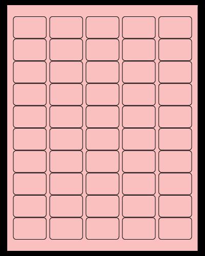 "1.5"" X 1"" Pastel Pink Sheets"