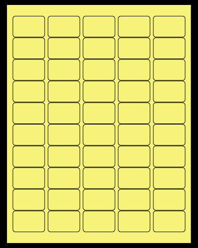 "1.5"" X 1"" Pastel Yellow Sheets"