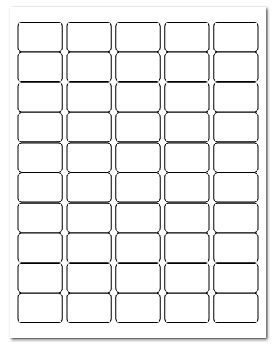 """1.5"""" X 1"""" White Matte Sheets"""