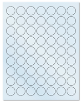 """1"""" Dia. Frosty (Matte) Clear Sheets"""