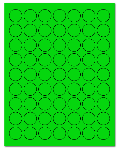 "1"" Dia. Fluorescent Green Sheets"
