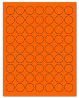 "1"" Dia. Fluorescent Orange Sheets"