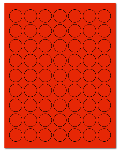 """1"""" Dia. Fluorescent Red Sheets"""