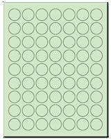 """1"""" Dia. Pastel Green Sheets"""