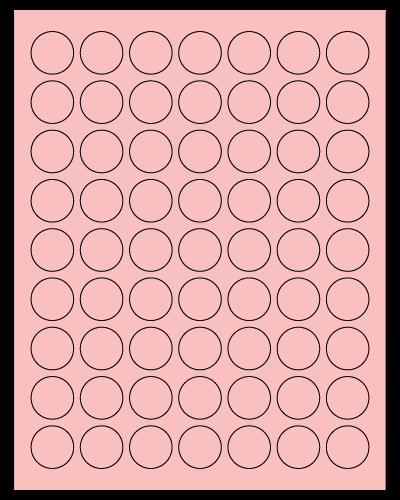 "1"" Dia. Pastel Pink Sheets"