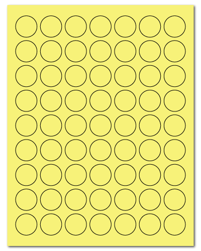 "1"" Dia. Pastel Yellow Sheets"