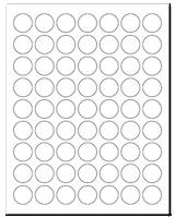 "1"" Dia. White Matte Sheets"