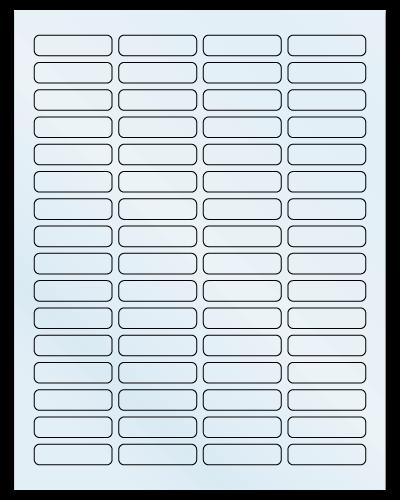 "1.813"" X 0.5"" Frosty (Matte) Clear Sheets"