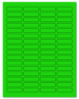 "1.813"" X 0.5"" Fluorescent Green Sheets"