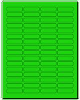 """1.813"""" X 0.5"""" Fluorescent Green Sheets"""