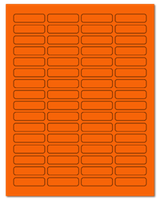 "1.813"" X 0.5"" Fluorescent Orange Sheets"