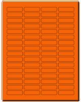 "1.813"" X 0.5"" Fluorescent Orange Sheets"