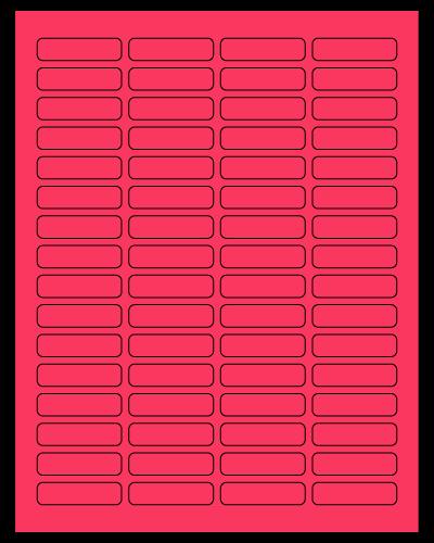 "1.813"" X 0.5"" Fluorescent Pink Sheets"