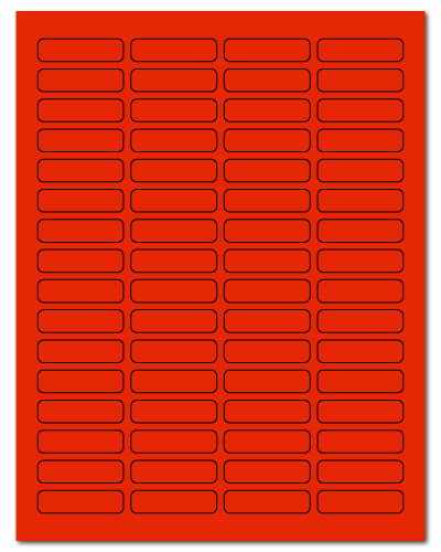 """1.813"""" X 0.5"""" Fluorescent Red Sheets"""