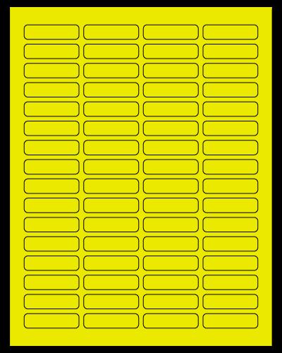 "1.813"" X 0.5"" Fluorescent Yellow Sheets"