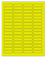 "1.813"" X 0.5"" Fluorescent Yellow Sheets"