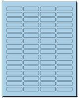 "1.813"" X 0.5"" Pastel Blue Sheets"