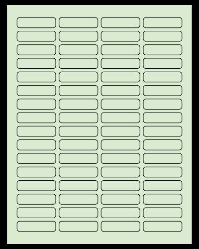 "1.813"" X 0.5"" Pastel Green Sheets"