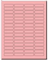 "1.813"" X 0.5"" Pastel Pink Sheets"