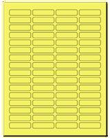 "1.813"" X 0.5"" Pastel Yellow Sheets"