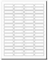 """1.813"""" X 0.5"""" White Matte Sheets"""