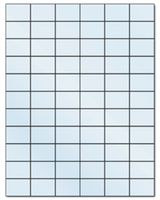 "1.42"" X 1"" Frosty (Matte) Clear Sheets"
