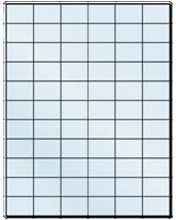 "1.42"" X 1"" Frosty (Matte) Clear Sheets"