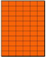 "1.42"" X 1"" Fluorescent Orange Sheets"