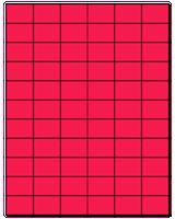 "1.42"" X 1"" Fluorescent Pink Sheets"