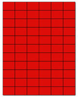 "1.42"" X 1"" Fluorescent Red Sheets"