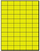 "1.42"" X 1"" Fluorescent Yellow Sheets"