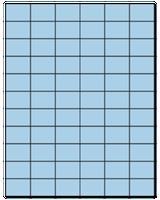 "1.42"" X 1"" Pastel Blue Sheets"