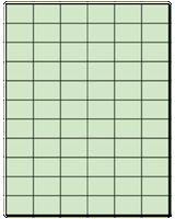 "1.42"" X 1"" Pastel Green Sheets"