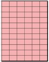 "1.42"" X 1"" Pastel Pink Sheets"