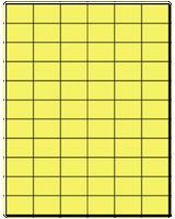 "1.42"" X 1"" Pastel Yellow Sheets"