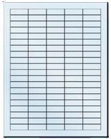 "1.5"" X 0.5"" Frosty (Matte) Clear Sheets"
