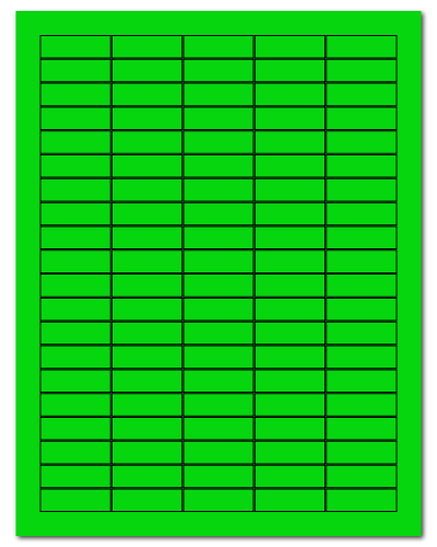 """1.5"""" X 0.5"""" Fluorescent Green Sheets"""