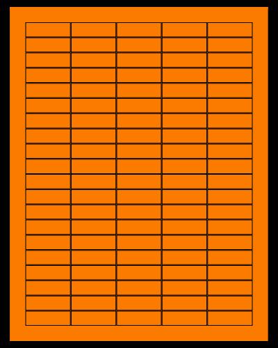 "1.5"" X 0.5"" Fluorescent Orange Sheets"